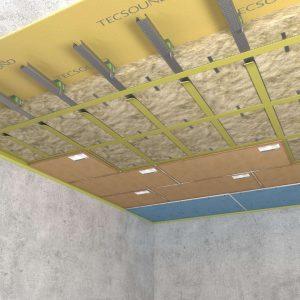 Каркасная система звукоизоляции потолка «Премиум П»