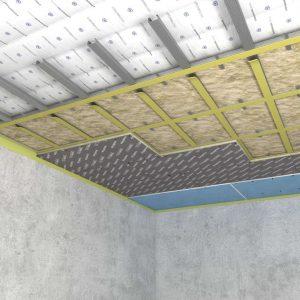 Каркасная система звукоизоляции потолка «Стандарт М1»