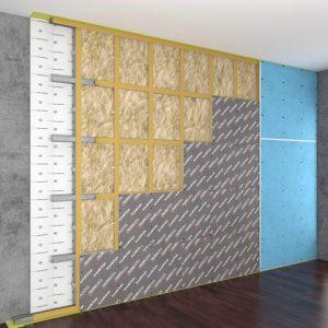 Каркасная система звукоизоляции стен «Стандарт М1»