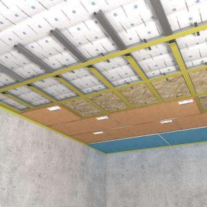 Каркасная система звукоизоляции потолка «Стандарт П»